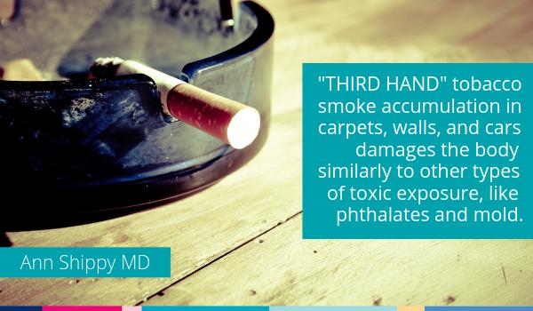 cigarette smoking secondhand smoke damage thirdhand