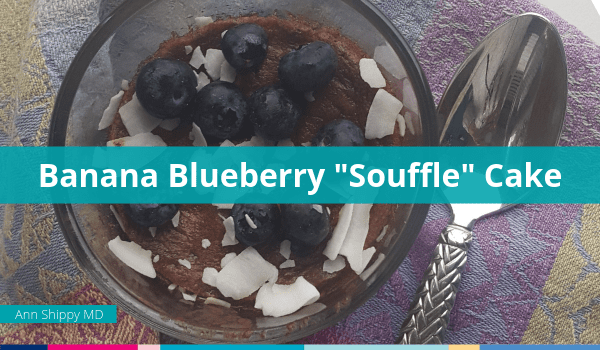 banana blueberry souffle cake