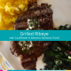 grilled ribeye steak paleo dinner cauliflower rainbow swiss chard