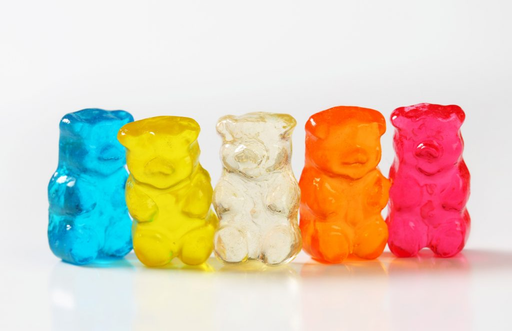 sugar-free gummy bears for Paleo Halloween